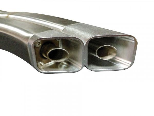 [071-980-4] IXRACE 2 rostfritt helsystem ljuddämpare, Yamaha MT-09, XSR 900, 16-