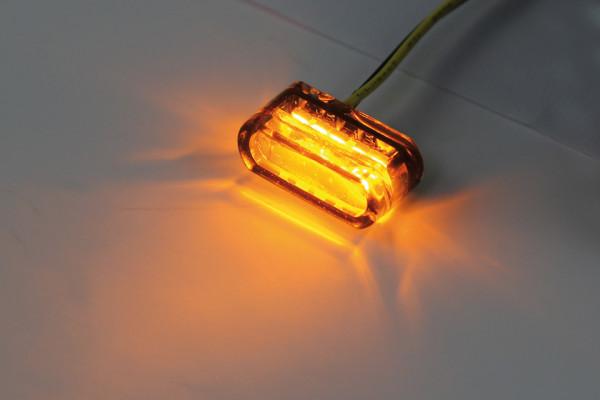 [204-147] LED blinkers MODUL 1, oval, rökfärgat, för inbyggnad.