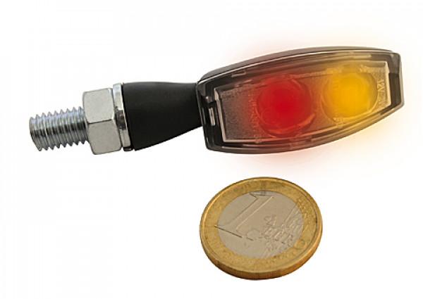[254-302] LED-bakljus-/blinkers BLAZE, svart, klar