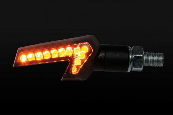 [204-015] LED-blinkers STRADA, svart, E-märkt