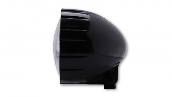 [223-138] ABS strålkastare med Fräsung, svart, HS1, bottenmontering