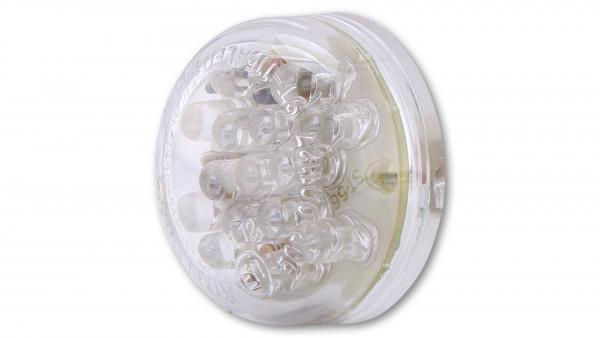 [255-080] LED-bakljus, DISC, klarglas, E-märkt