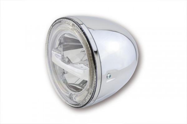 [223-047] 5 3/4 inch LED Headlight CIRCLE, chrome