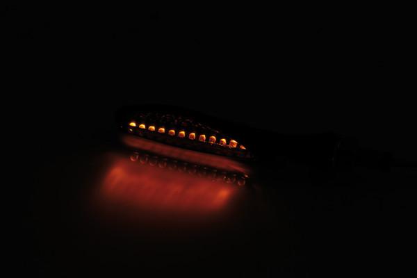 [204-043] LED sekvens-blinkers FLAKE, svart, tonat glas, par, E-märkt