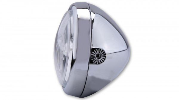 [222-090] 4 1/2 tum strålkastare med Bilux-glödlampa, förkromad, sidomontering, E-märkt