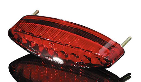 [255-978] LED-Mini-bakljus NUMBER1, med regskyltsbelysning, rött glas