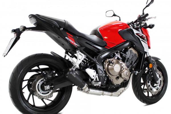 [064-656B] IXRACE MK2 rostfritt helsystem ljuddämpare, svart, Honda CB 650 F/CBR 650 F, 14-