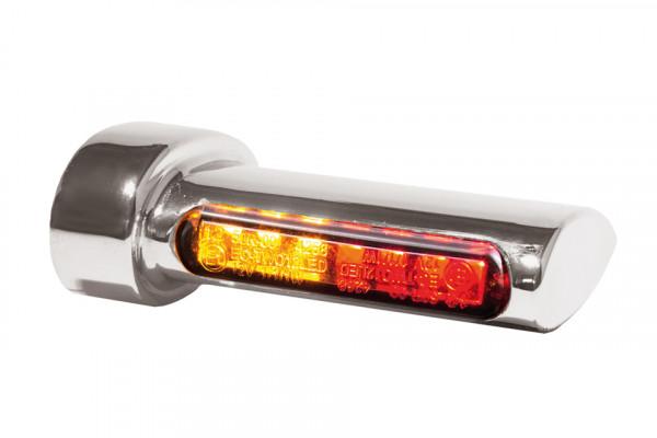 [203-6948] Winglets 3in1 LED blinkers, bromsljus/bakljus, alla Harley-Davidson modeller 93-, silver