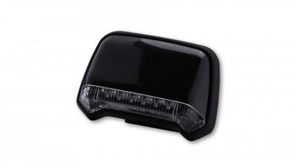 [255-075] LED-bakljus, svart hus, klarglas