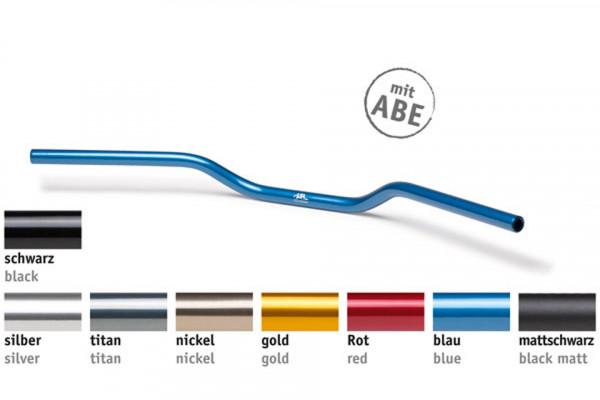 [122A001RT] Alu handlebar A01, red
