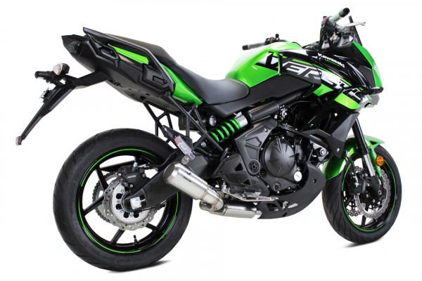 [064-752.v] MK2 rostfritt helsystem ljuddämpare, svart, Kawasaki Versys 650, 18-