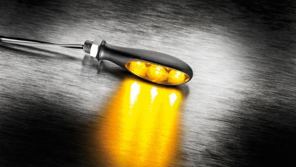 [200-298] Blinkers Micro S Dark, svart, tonat glas, fram och bak, st